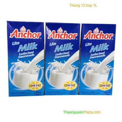 Sữa tươi tiệt trùng ít béo Anchor thùng 12 hộp 1L