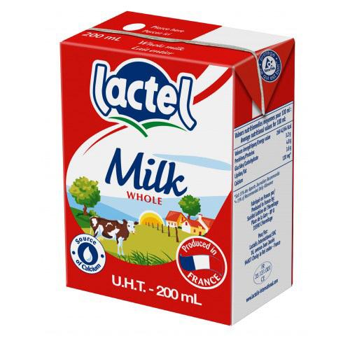 Sữa tươi tiệt trùng Lactel 200ml – 4 hộp/ vỉ