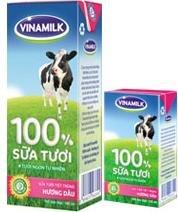 Sữa tươi tiệt trùng Vinamilk 100% 110ml - 4 hộp/ vỉ