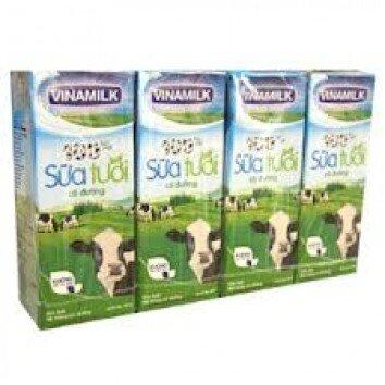 Sữa tươi tiệt trùng Vinamilk 100% 180ml - 4 hộp/ vỉ