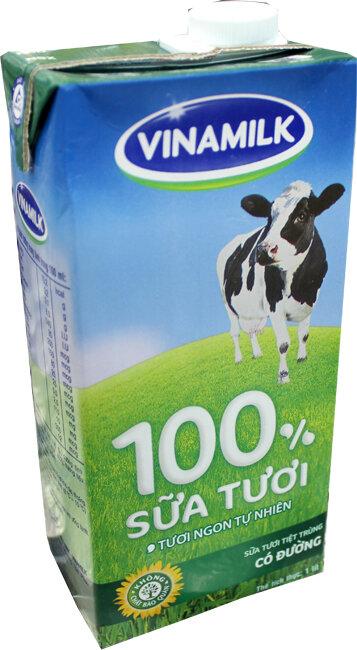 Sữa tươi tiệt trùng Vinamilk có đường 1L