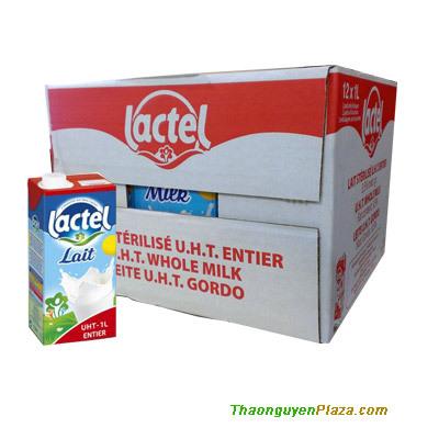 Sữa UHT Lactel nguyên kem hộp giấy thùng 12 hộp 1L