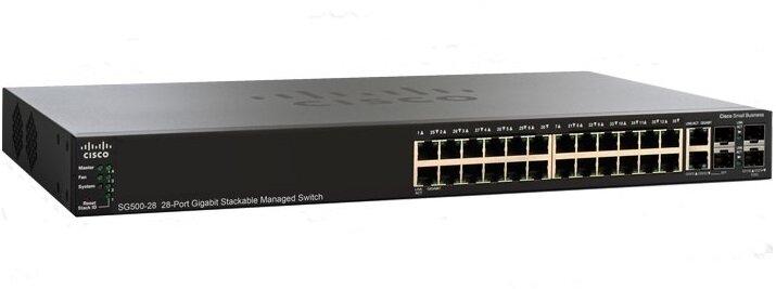 Switch Cisco SG500-28-K9-G5 - 28-port Gigabit Stackable Managed