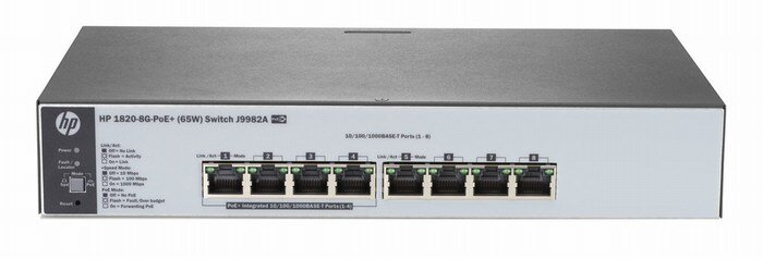 Switch J9982A, HP 1820-8G-PoE+ (65W)