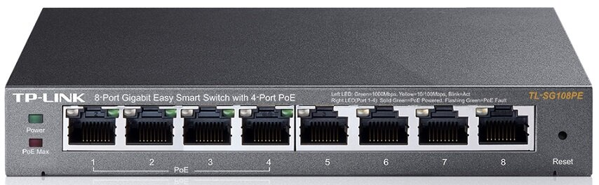 Switch TP-Link TL-SG108PE - 8 ports