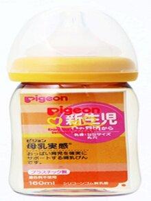 Bình sữa nhựa cổ nhỏ Pigeon - 160ml