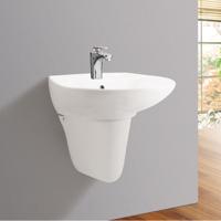 Chậu rửa mặt treo tường + chân lửng Viglacera VI39