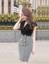 Đầm ôm body cổ vest