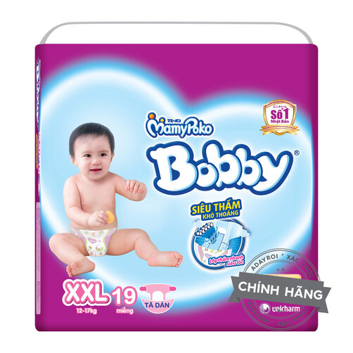 Tã bỉm dán siêu mỏng Bobby XXL19