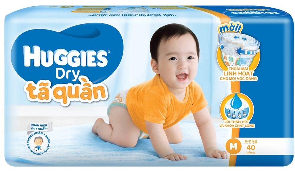 Tã-bỉm quần Huggies Dry Jumbo M40