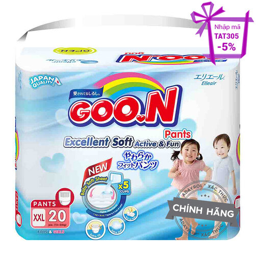 Tã-bỉm quần Jumbo Goon Renew Slim XXL20