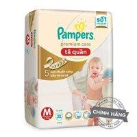 Tã-bỉm quần Pampers Premium Care M32