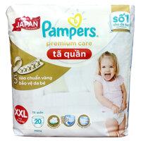 Tã-bỉm quần Pampers Premium Care XXL20