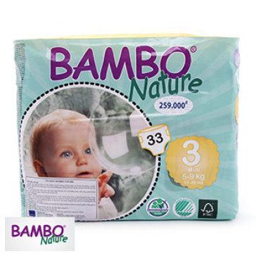 Tã dán Bambo Nature Midi 3 M66 miếng (5-9kg)