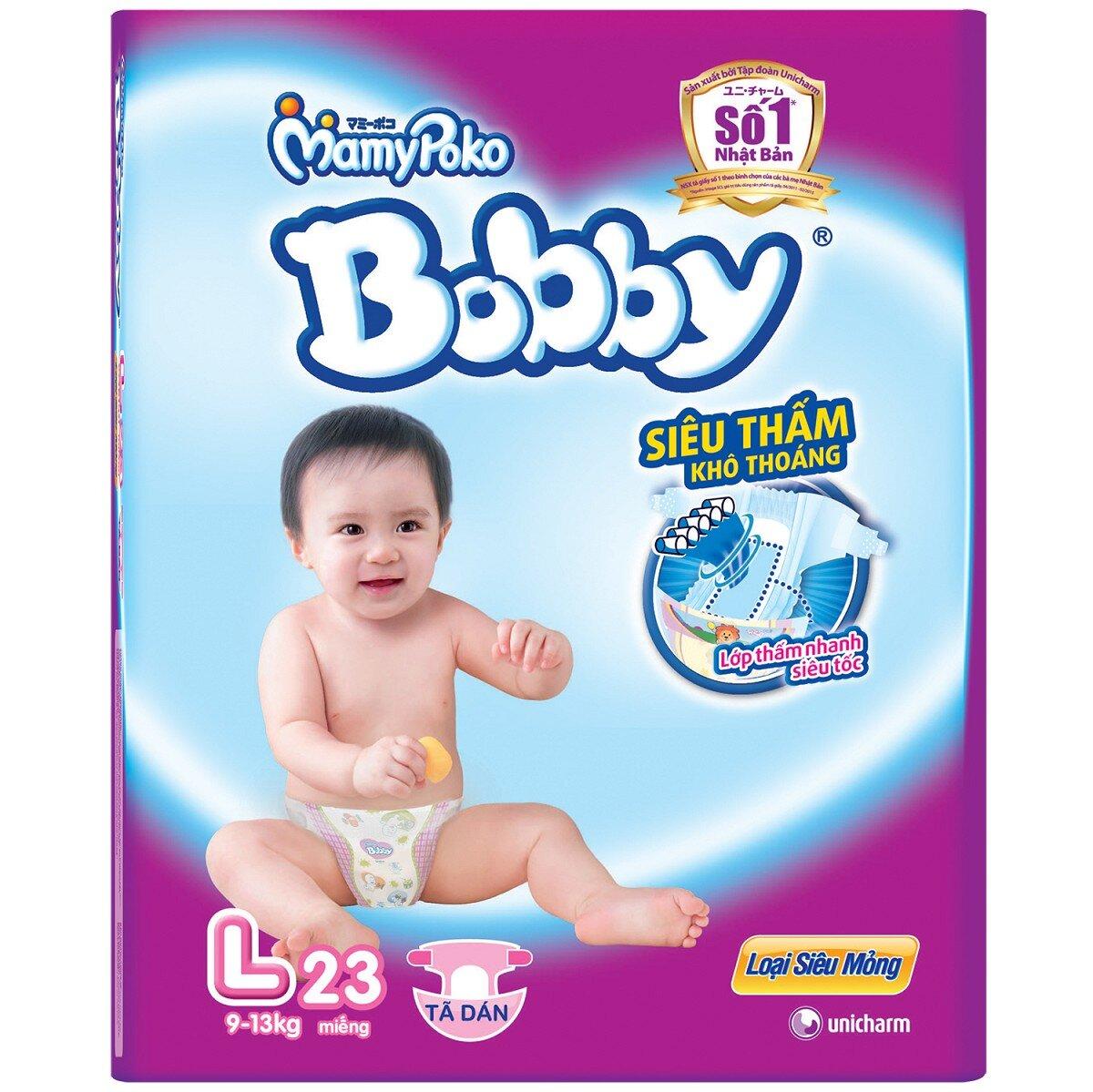 Tã Dán Bobby Fresh Siêu Mỏng L23