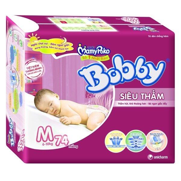 Tã dán Bobby Fresh siêu thấm M74