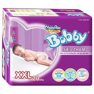 Tã dán Bobby Fresh siêu thấm XXL20