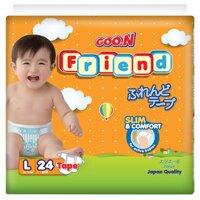 Tã dán Goo.n Friend size L24 miếng (trẻ từ 8 - 13kg)