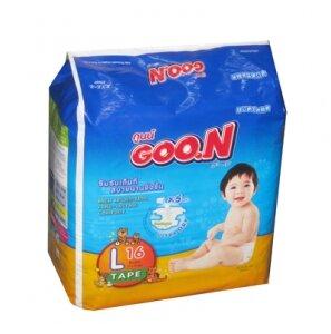 Tã dán Goo.n size L 16 miếng (trẻ từ 9 - 14kg)