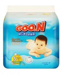 Tã dán Goo.n size S 20 miếng (trẻ từ 4 - 8kg)
