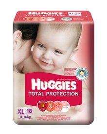 Tã dán Huggies Dry size XL 18 miếng (trẻ từ 11 - 16kg)