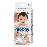 Tã dán Moony Natural L38 - 38 miếng (cho bé từ 9-14kg)