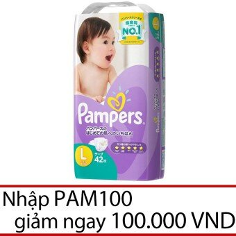 Tã dán Pampers L42 - 42 miếng (dành cho bé từ 9-14kg)