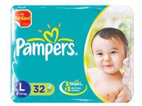 Tã dán Pampers size L 32 miếng (trẻ từ 9 - 15kg)
