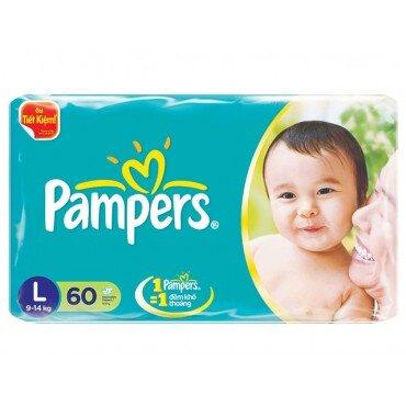 Tã dán Pampers size L60 miếng (trẻ từ 9 - 15kg)