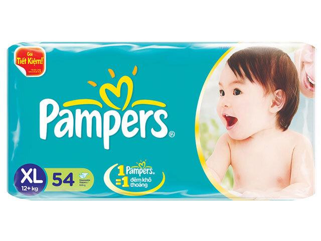 Tã dán Pampers size XL54 miếng (trẻ trên 13kg)