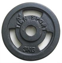 Tạ đĩa lỗ sắt sơn tĩnh điện 3kg