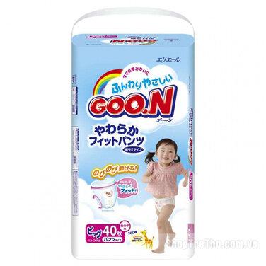 Tã quần Goon nội địa XL38 cho bé gái