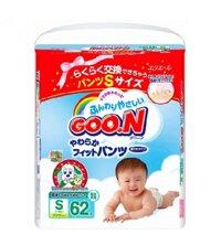 Tã quần Goon S62 - 62 miếng (dành cho trẻ từ 5-9kg)