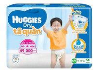 Tã quần HUGGIES DRY PANTS SUPER JUMBO XXL56