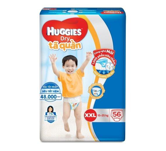 Tã quần Huggies Dry size XXL - 56 miếng, 15-25kg