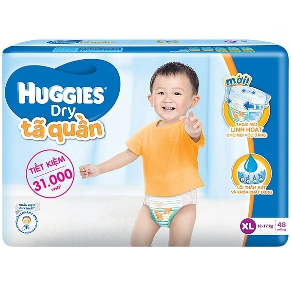 Tã quần Huggies Dry XL48