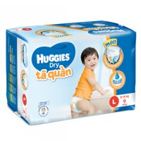 Tã quần Huggies size L 9 miếng (trẻ từ 9 - 14kg)