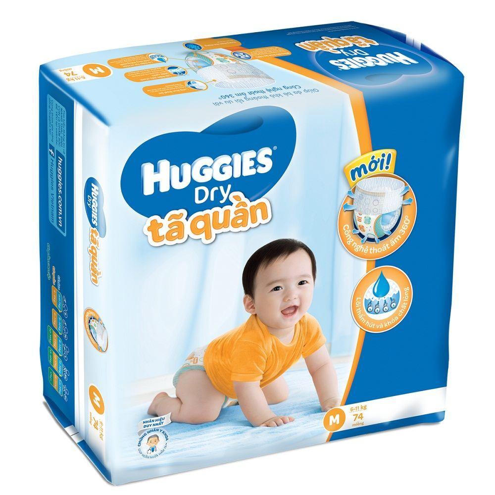 Tã quần Huggies size M74 miếng (trẻ từ 6 - 11kg)  Giá từ 155 000 ₫ - 21 nơi  bán
