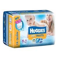 Tã quần Huggies size XL 8 miếng (trẻ từ 12 - 17kg)