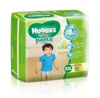 Tã quần Huggies Ultra Pants bé trai size XXL 20 miếng (trẻ trên 17kg)
