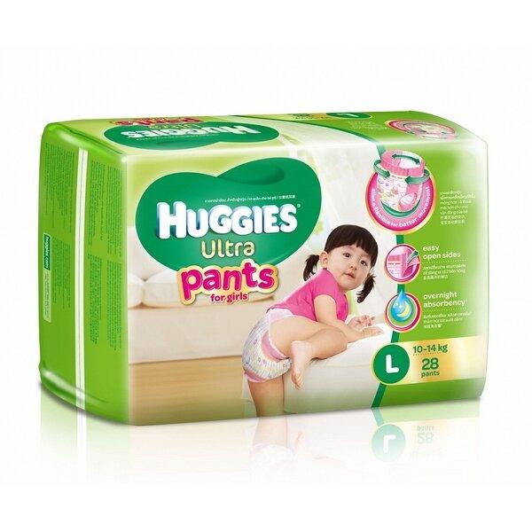 Tã quần Huggies Ultra Pants bé gái size L28 miếng (trẻ từ 10 - 14kg)