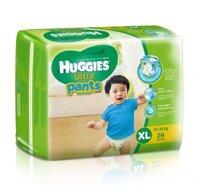 Tã quần Huggies Ultra Pants bé trai size XL 24 miếng (trẻ từ 13 - 18kg)