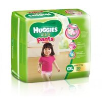 Tã quần Huggies Ultra Pants bé gái size XXL 20 miếng (trẻ trên 17kg)