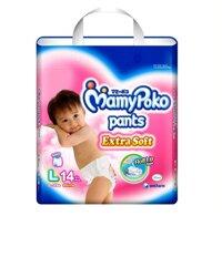 Tã quần MamyPoko Girls size L 14 miếng (trẻ từ 9 - 14kg)