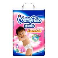 Tã quần MamyPoko Girls size L 52 miếng (trẻ từ 9 - 14kg)