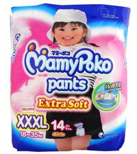 Tã quần MamyPoko Girls size XXXL 14 miếng (trẻ từ 18 - 35kg)