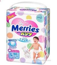 Tã quần Merries L50 (dành cho trẻ từ 9-14kg)