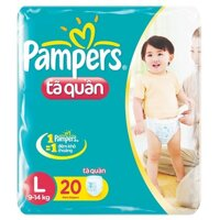 Tã quần Pampers size L 20 miếng (trẻ từ 9 - 15kg)