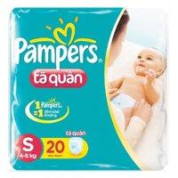 Tã quần Pampers size S20 miếng (trẻ từ 3 - 8kg)
