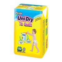 Tã quần UniDry gói nhỏ XL8 (Trên 13kg)